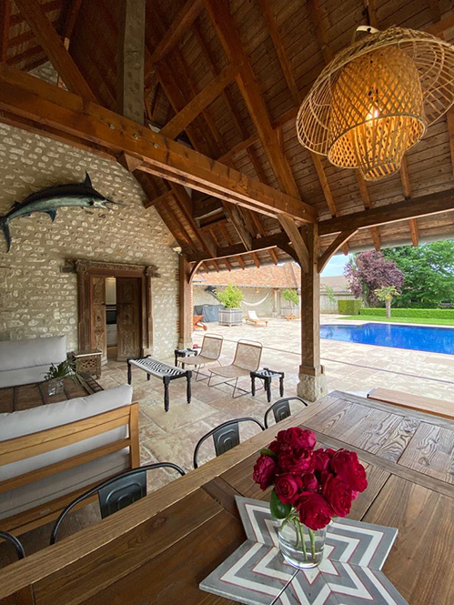 7 Normandie salon pool house
